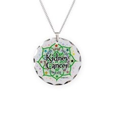 Kidney-Cancer-Lotus Necklace Circle Charm