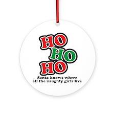 hohoho Round Ornament