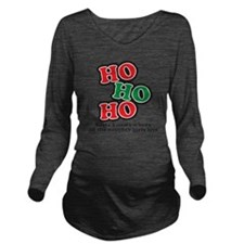 hohoho Long Sleeve Maternity T-Shirt