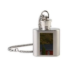 Glen Arbor: 1871 Shetland Schoolhou Flask Necklace