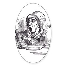 Mad Hatter Oval Decal