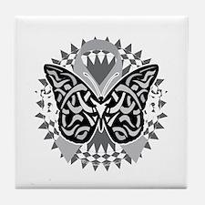 Parkinsons-Disease-Butterfly-Tribal-2 Tile Coaster