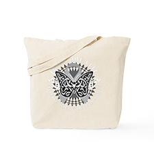 Parkinsons-Disease-Butterfly-Tribal-2-blk Tote Bag