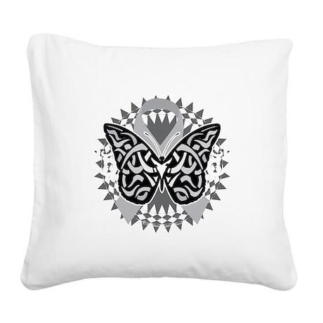 Parkinsons-Disease-Butterfly- Square Canvas Pillow