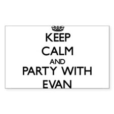 Keep Calm and Party with Evan Decal