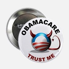 Obamacare Devil - Round 2.25&Quot; Button