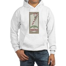 Country Rustic Burlap Candy Cane Hoodie