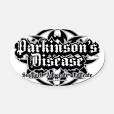 Parkinsons-Tribal Oval Car Magnet