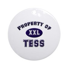 Property of tess Ornament (Round)