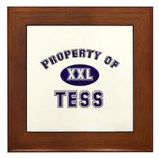Property of tess Framed Tile