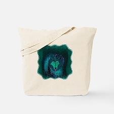 Teal Wolf Tote Bag