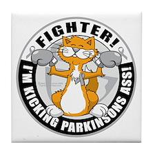 Parkinsons-Fighter-Cat Tile Coaster
