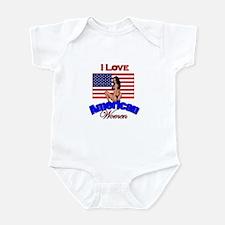 I Love American Women Infant Bodysuit