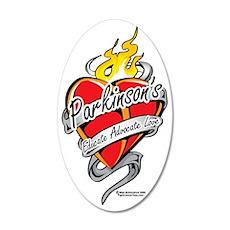 Parkinsons-Tattoo-Heart-2 35x21 Oval Wall Decal