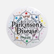 Parkinsons-Lotus Round Ornament