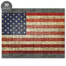 Distressed USA Flag Puzzle