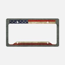 Distressed USA Flag License Plate Holder