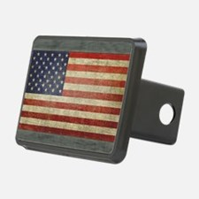 Distressed USA Flag Hitch Cover