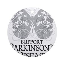 Parkinsons-Butterfly-A Round Ornament