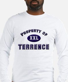 Property of terrence Long Sleeve T-Shirt