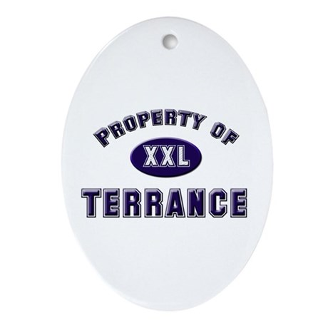 Property of terrance Oval Ornament
