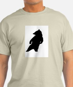 BLACK DANCING BEAR light T-Shirt
