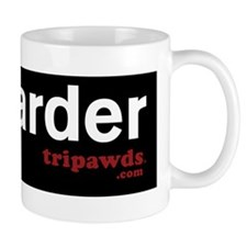 tri harder GSD front leg black Mug