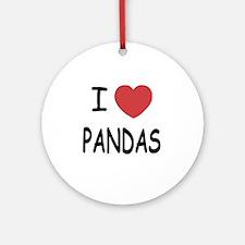 PANDAS Round Ornament