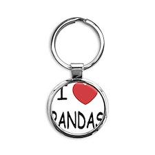 PANDAS Round Keychain