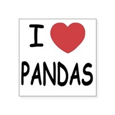 "PANDAS Square Sticker 3"" x 3"""