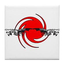 Tribal Dragons Tile Coaster