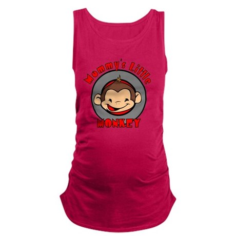 mommyslittle monkeyboy Maternity Tank Top