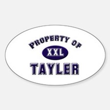 Property of tayler Oval Decal