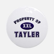 Property of tayler Ornament (Round)