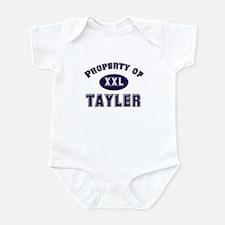 Property of tayler Infant Bodysuit