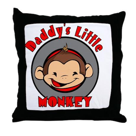 2-DADDYSMONKEYBOY Throw Pillow