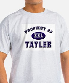 Property of tayler Ash Grey T-Shirt