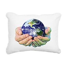 WORLD SMALL SIZE Rectangular Canvas Pillow