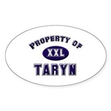 Property of taryn Oval Decal