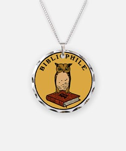 Bibliophile Seal (w/ text) d Necklace