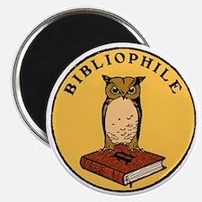 Bibliophile Seal (w/ text) dark Magnet