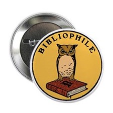 "Bibliophile Seal (w/ text) dark 2.25"" Button"