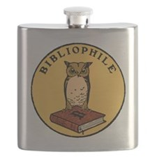 Bibliophile Seal (w/ text) dark Flask