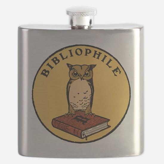 Bibliophile Seal (w/ text) dark Flask