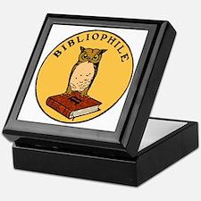 Bibliophile Seal (w/ text) dark Keepsake Box