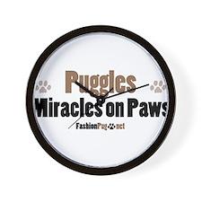 Puggle dog Wall Clock