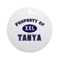 Property of tanya Ornament (Round)