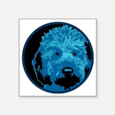 "What a blue dog! Square Sticker 3"" x 3"""