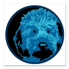 """What a blue dog! Square Car Magnet 3"""" x 3"""""""