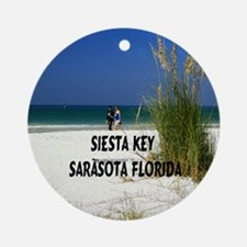 Siesta Key 11x11 Round Ornament